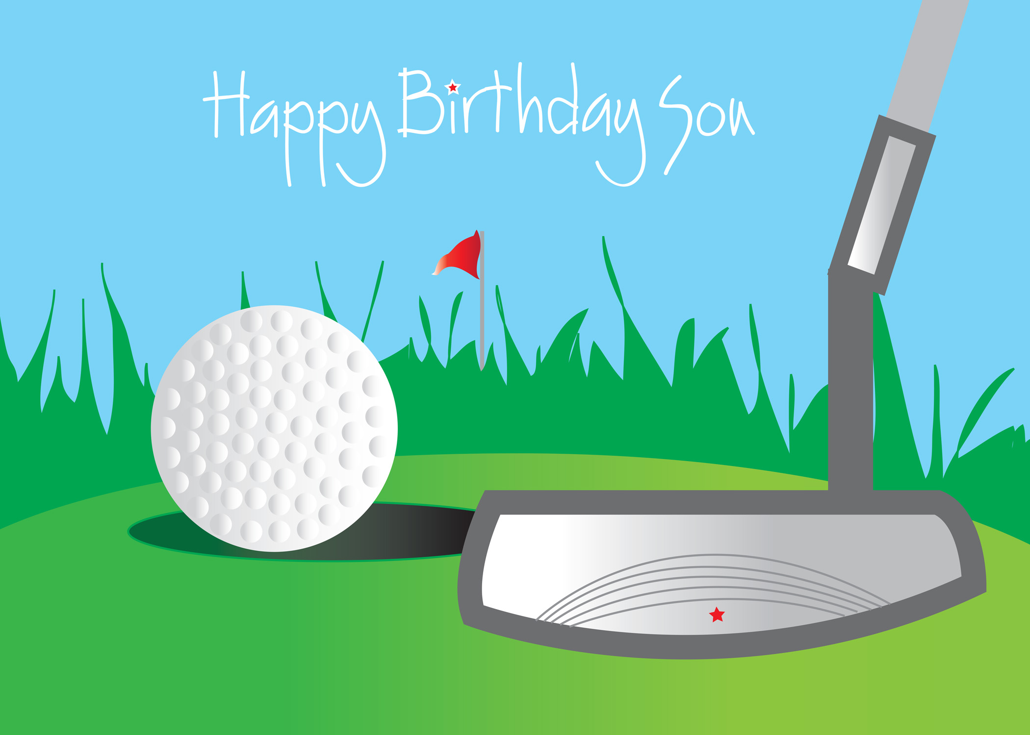 New Golf Happy Birthday Son
