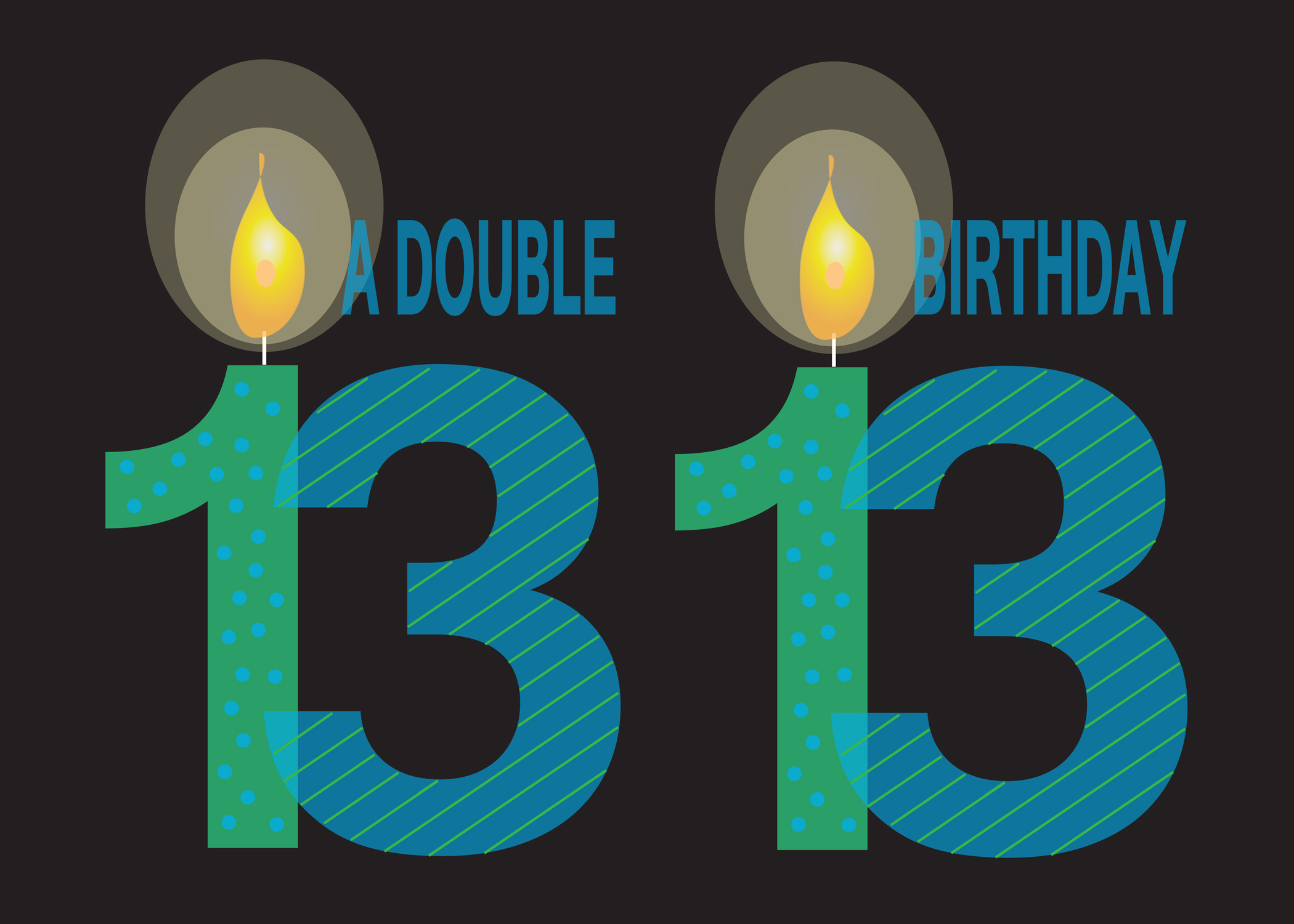 A Double Birthday for 13 years old - twins